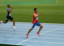 400 meters final on the 2012 IAAF World Junior Stock Image