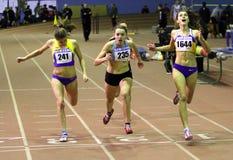 400 meters race Stock Photos