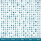 400 various icons symbols and design elements vector illustration