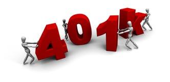 401k一起推进小组的人们 向量例证