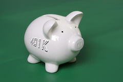 401k besparingen stock foto