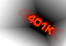 401k Down the Tubes. A conceptual illustration of a 401k savings plan going down the tubes.  Many people are losing hundreds and thousands of dollars due to the Royalty Free Stock Image