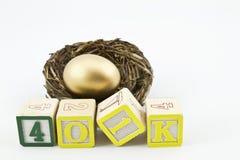 401K het Concept van besparingen Stock Afbeeldingen