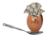 401k jajka gniazdeczka emerytura Zdjęcia Stock