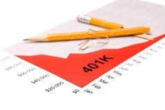 401K performance graph stock photography