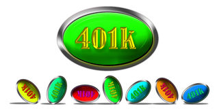 401K Retirement. $01K retirement rising above the rest Royalty Free Stock Photos