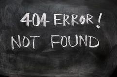 404找到的错误没有 免版税库存图片