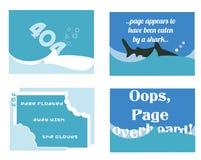 404 σελίδες συνήθειας ελεύθερη απεικόνιση δικαιώματος