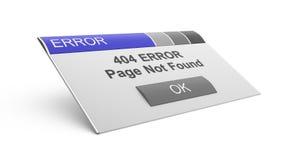 404 страница найденная ошибками не Стоковая Фотография RF