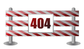 404 barrier illustration design Royalty Free Stock Photography