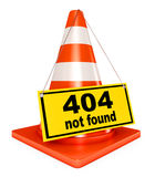 404 error. Concept 404 error on white background. Page not found. 3d render Stock Images