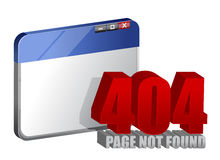 404 error on computer browser Royalty Free Stock Image