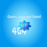 404 error page with blue character Royalty Free Stock Image