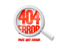 404 error, page not found. Stock Photos