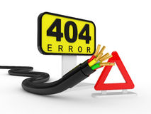 404 error sign Stock Photos