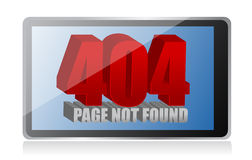 404 error on a tablet Stock Photos
