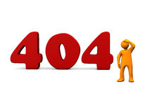 404 fout Stock Foto