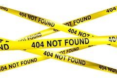 404 no encontrados Fotos de archivo libres de regalías
