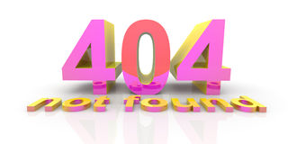 404 - not found Stock Images