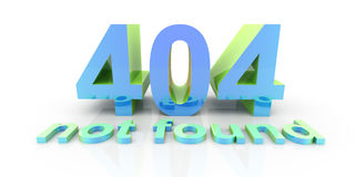 404 - not found Royalty Free Stock Photography