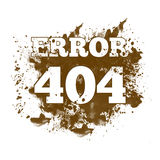 404 Not Found - Spatter. Image of 404 not found with spatter stock illustration