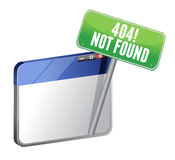 404 Page Not Found browser Stock Photo