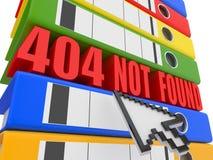 404 segregatorów błędu kartoteka znajdująca nie Obraz Stock