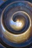 黄铜色漩涡 库存图片