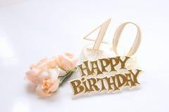 40ste verjaardag Stock Foto's