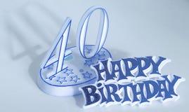 40th день рождения стоковое изображение