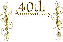 40th anniversary. On a solid white background royalty free illustration