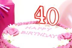 40th lyckliga födelsedag Arkivbilder