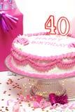 40th lyckliga födelsedag Royaltyfri Fotografi