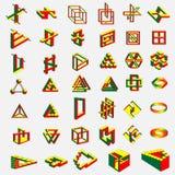 41 objets impossibles Image libre de droits