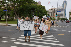 41 upptar anti apec honolulu protest Arkivbild