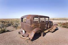 412 Old car in the desert. Old car in the desert in Uath Royalty Free Stock Photo