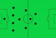 41212 fotbolltaktik Arkivfoton