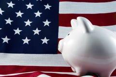 4148 patriotyczny bankowych świnka Zdjęcie Royalty Free