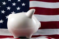 4150 patriotyczny bankowych świnka Fotografia Stock