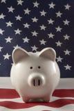 4152 patriotiska piggy för grupp Arkivfoto