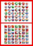 42 флага Стоковое Изображение RF