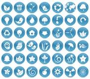 42 ecologische pictogramknopen Royalty-vrije Stock Foto