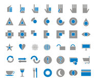 42 icons set shop. Eat, drink Royalty Free Stock Images