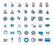 42 ikony ustawiający sklep ilustracja wektor
