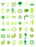 42 inställda miljösymboler stock illustrationer