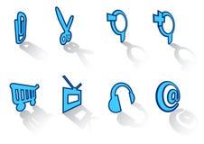 42 inställda symboler Royaltyfri Foto