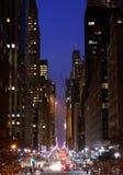 42.o Calle, New York City Fotografía de archivo libre de regalías