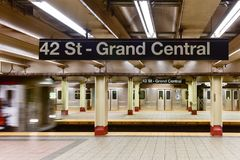 42 St - Grand Central Subway Station Stock Images