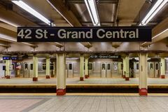 42 St - Grand Central Subway Station Royalty Free Stock Photo