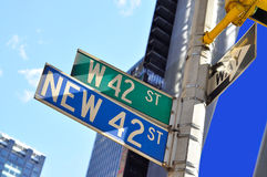42 street - Times Square sign. A shot of time square sign 42 street sign in times square manhttan Stock Images